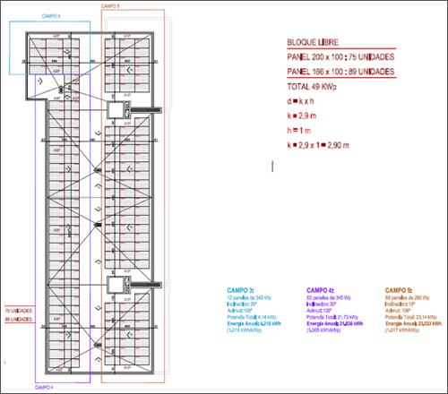 plano de instalación fotovoltaica