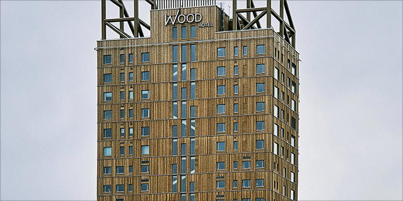 edificio de madera en noruega