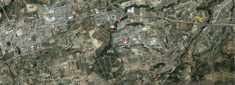 Figura 2. Vista aérea de la ubicación del edificio.