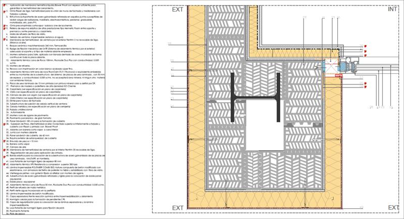 Figura 3. Detalle Constructivo. Continuidad de la capa aislante y hermeticidad cerramientos opacos y semitransparentes.