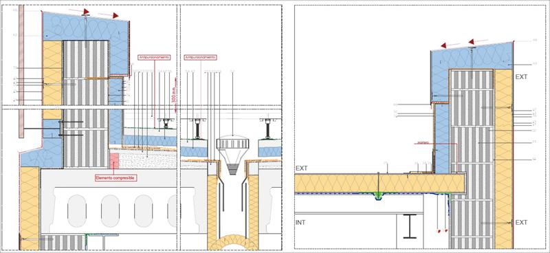 Figuras 5 y 6. Detalle Constructivo. Continuidad de la capa aislante y hermeticidad cubiertas.