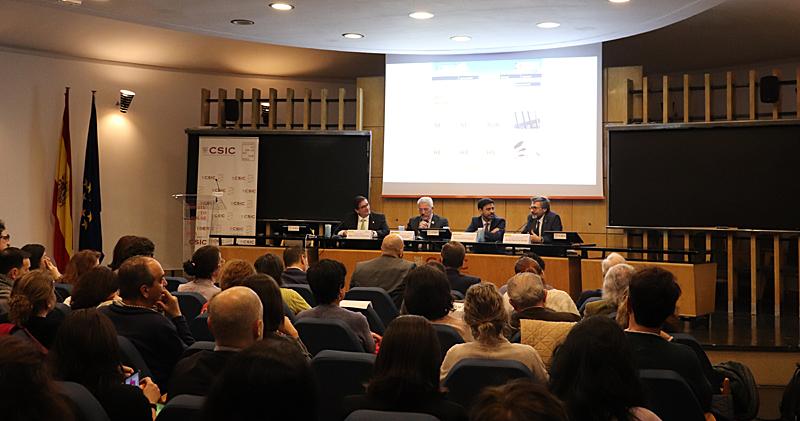 De izquierda a derecha: Ángel Castillo, Luis Vega, Javier Martín y Carlos Prieto, dieron la bienvenida al encuentro.