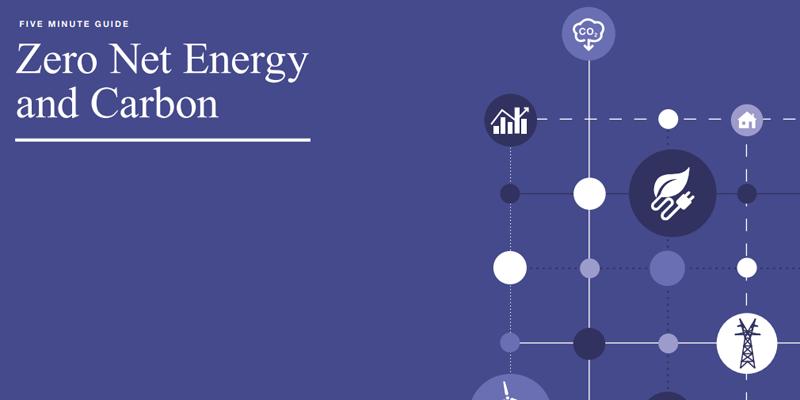 portada Guía de cinco minutos para alcanzar la energía neta cero en los edificios