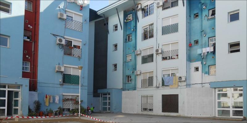 Promoción de viviendas en la plaza Eloy Picón en Huelva.
