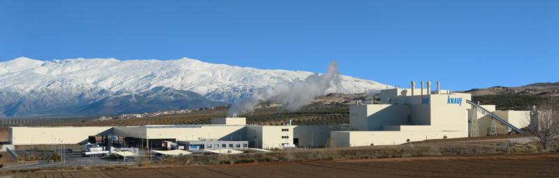 Planta de Knauf en Escúzar, Granada, una de las mas modernas de Europa.