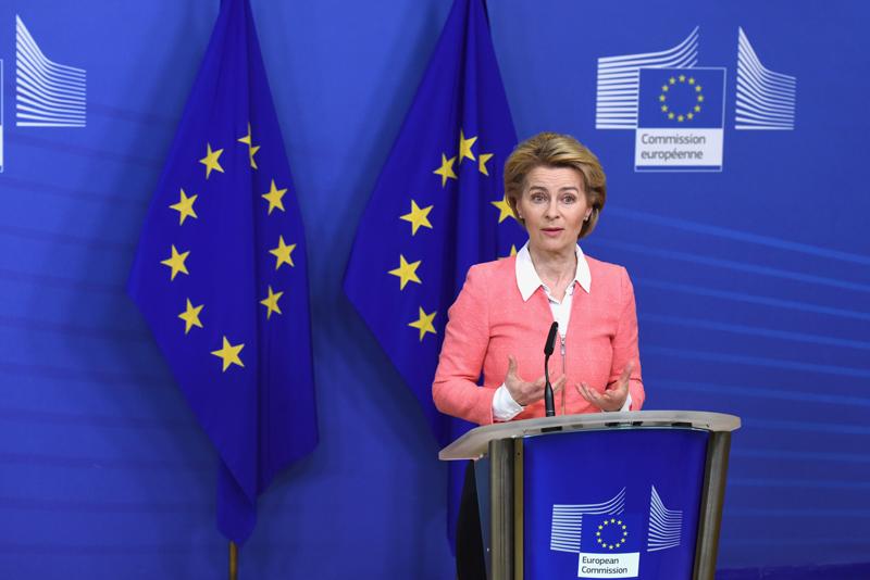 La presidenta Ursula von der Leyen