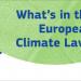 La CE presenta la propuesta de la Ley del Clima para alcanzar la neutralidad climática en 2050