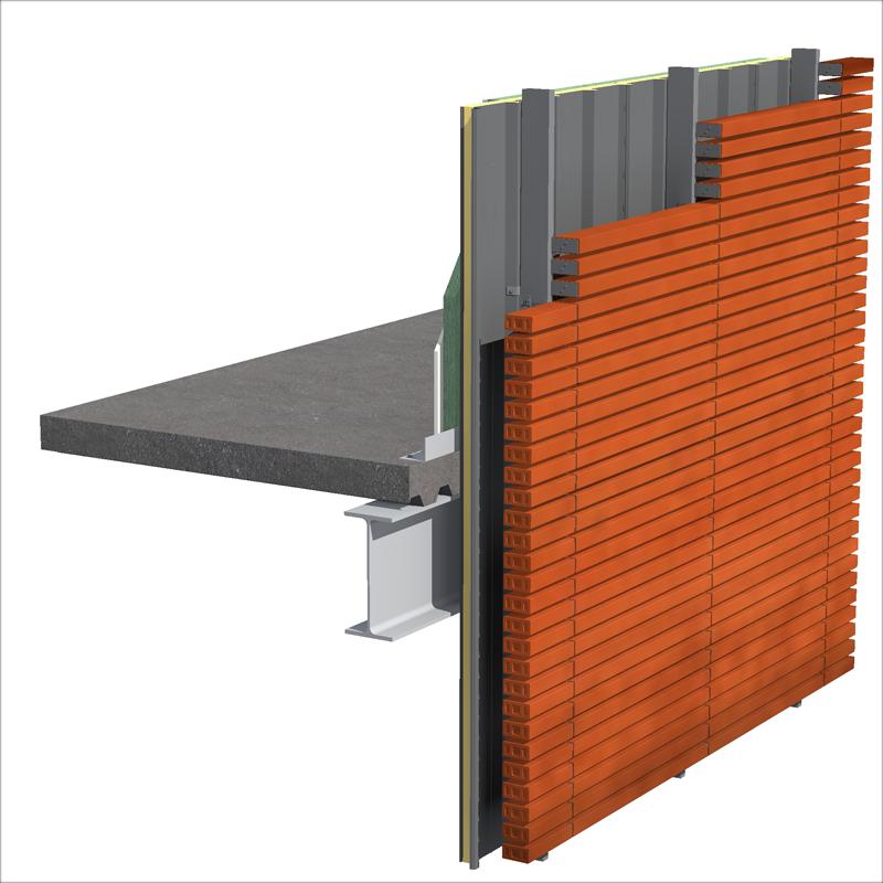sistema de fachada ventilada ARK Wall de Isopan