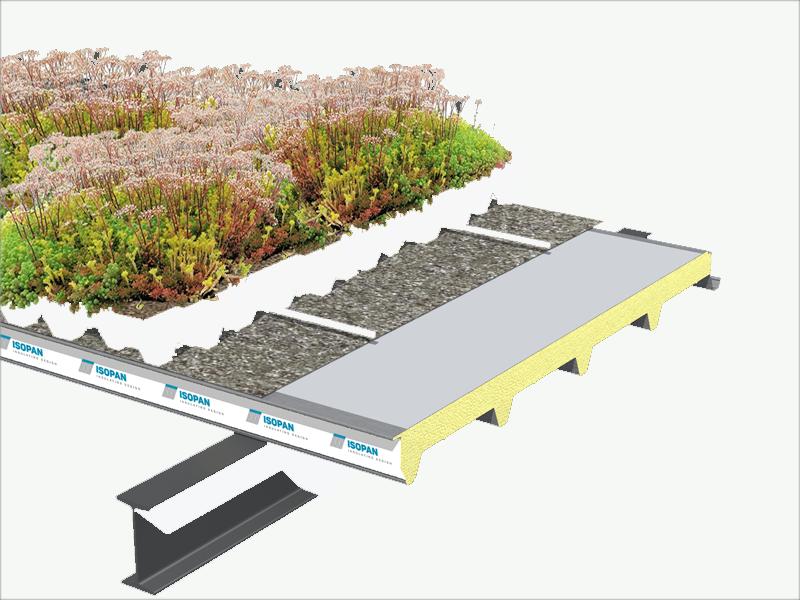 sistema de cubiertas verdes GreenRoof de Isopan