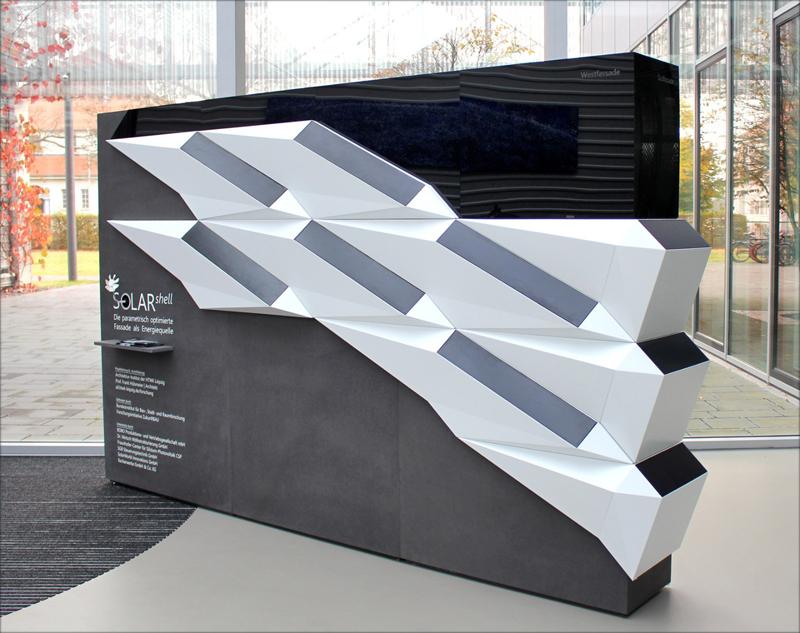 Demostrador de 2x3 m presentado por el equipo de investigación. Imagen: Fraunhofer IMWS.