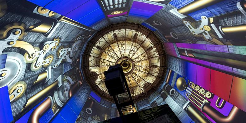 Una de las salas del centro de ocio que ha iluminado Trilux en Alemania.