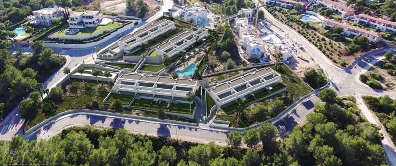 Viviendas de Cala Vinyes Hills II en Calvià, Mallorca, una de las promociones que han contado con las soluciones aislantes de Isover.