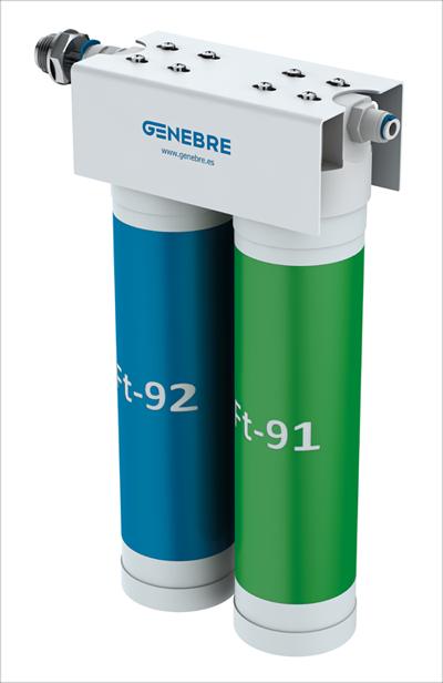El filtro azul elimina olores y malos sabores, mientras que el verde realiza una ultrafiltración anti bacteriológica.