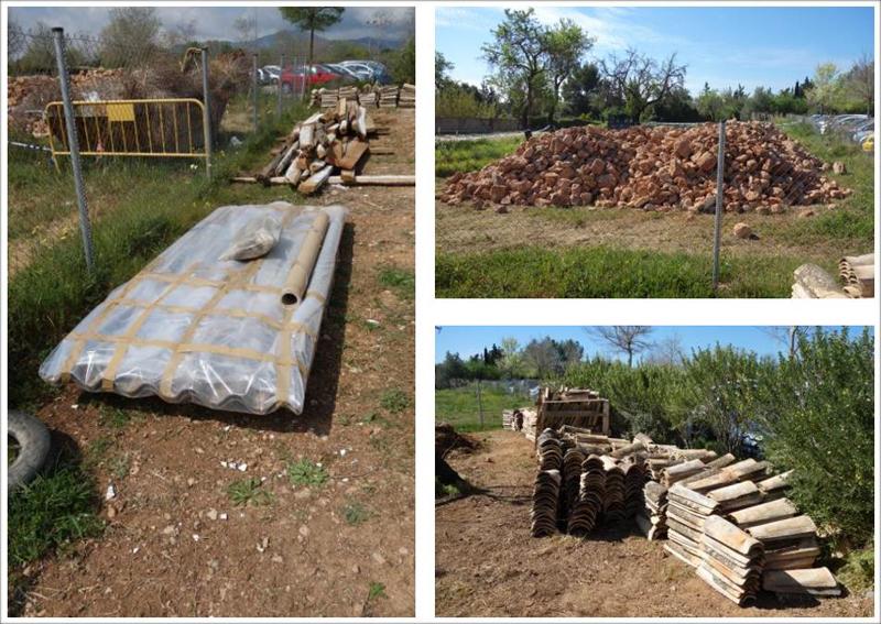 Gestión de residuos durante la obra de rehabilitación, en la que se reutilizó todo el material posible de la antigua casa.