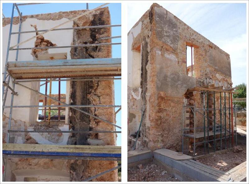 Estado de las fachadas al inicio de las obras.