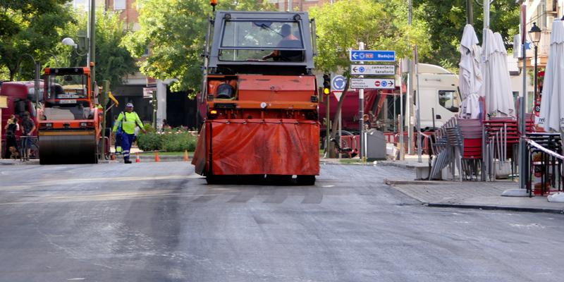 pavimentación calles móstoles