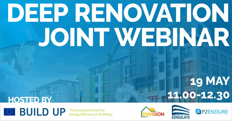 cartel del webinar deep renovation joint webinar que tendrá lugar el 19 de mayo