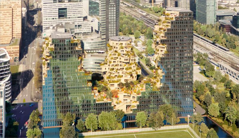El edificio Valley está diseñado para incorporar el entorno natural en la construcción urbana.