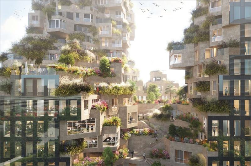 La construcción en piedra natura, la incorporación de vegetación y el aprovechamiento de la luz natural son algunas de las singularidades que hacen de este edificio un ejemplo de sostenibilidad.