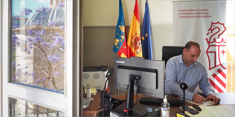 El vicepresidente segundo y conseller de Vivienda y Arquitectura Bioclimática, Rubén Martínez Dalmau.
