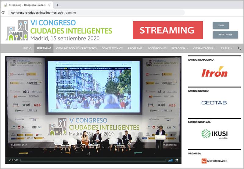Los Congresos de Grupo Tecma Red se podrán seguir íntegramente en streaming a través de la web.