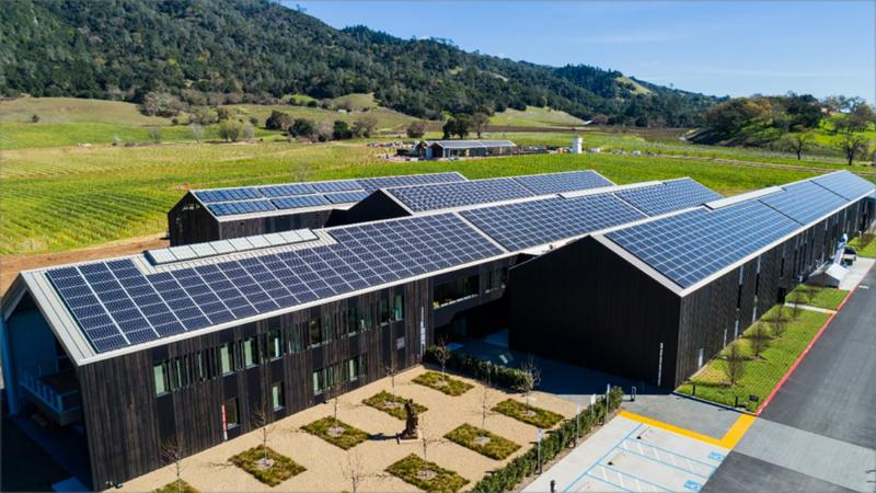Bodega Alexander Valley de Silver Oak, construida en California.