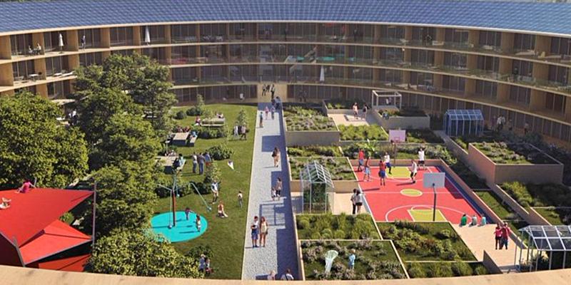 Imagen del vecindario piloto que se construirá en Oslo, Noruega.