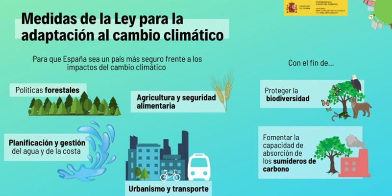 El Gobierno envía a las Cortes el primer proyecto de Ley de Cambio Climático y Transición Energética para alcanzar la neutralidad de emisiones a más tardar en 2050icono barra herramientas