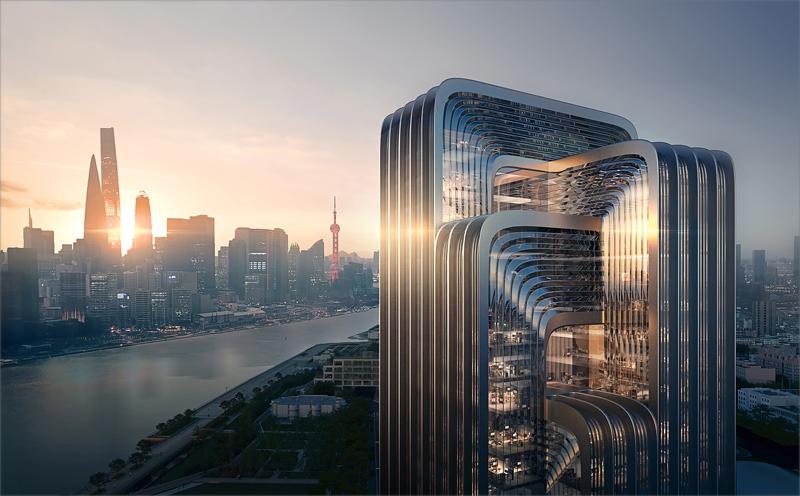 Nueva sede de CECEP en Shanghái, diseñado por Zaha Hadid.
