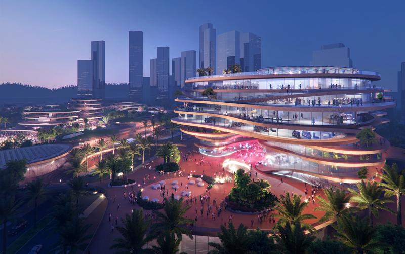 El proyecto pretende marcar un punto de encuentro importante en la ciudad. Imagen: MVRDV-Atchain