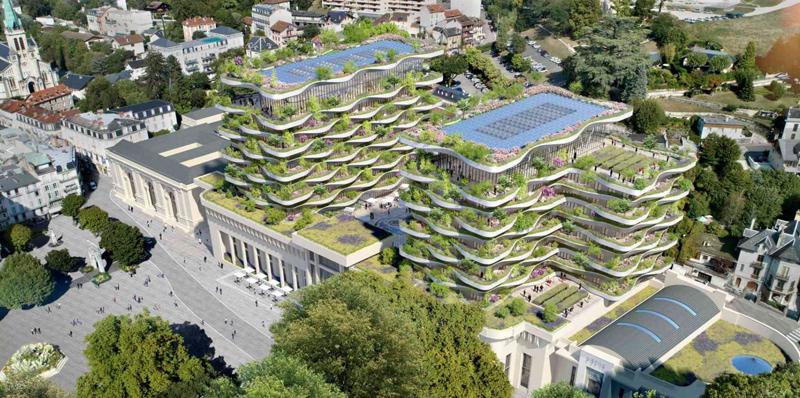 El proyecto de regeneración de estas termas será multifacético, para satisfacer las necesidades de revitalización del centro de la ciudad de Aix-les-Bains, con múltiples usos que mejorarán los edificios y el atractivo de este lugar patrimonial.