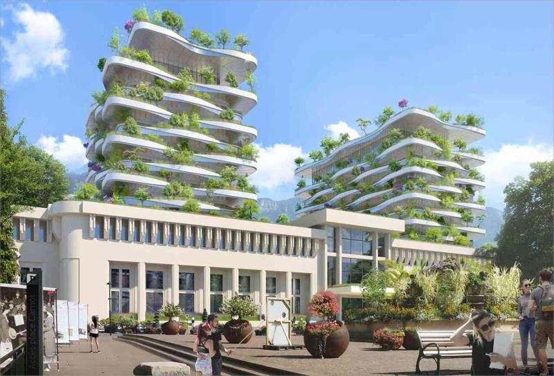 El uso de vegetación ayudará a disminuir la huella de CO2, se utilizarán plantas autóctonas y el riego se realizará a través de agua de lluvia reutilizada.