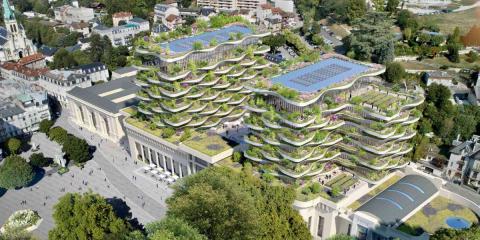 'The foam of the waves' transformará las antiguas termas romanas de Aix-les-Bains en un espacio multiusos sostenible
