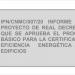 Informe de la CNMC sobre el proyecto de normativa para la certificación energética