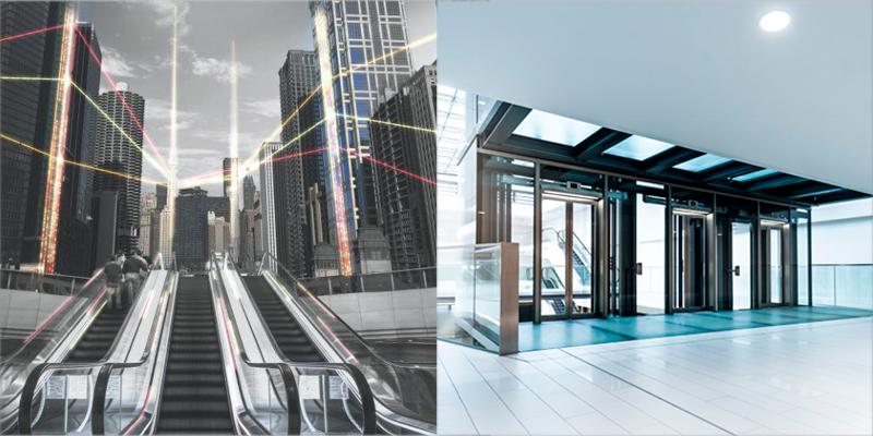 escaleras mecánicas y ascensores
