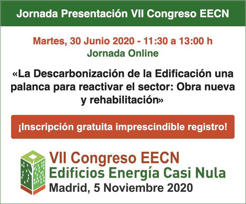 Cartel de la jornada de presentación del VII Congreso Edificios Energía Casi Nula