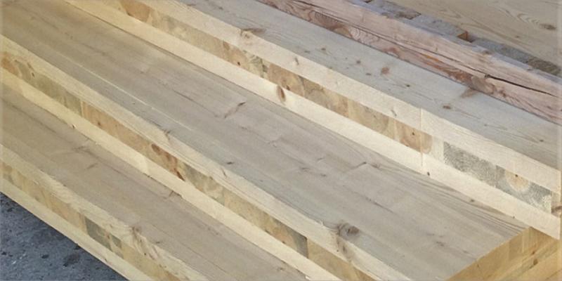 madera de pino para construcción sostenible