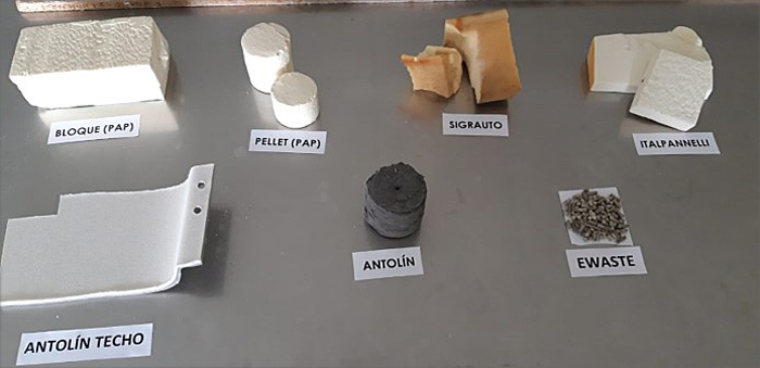 El proyecto incorpora residuos de espumas de poliuretano en un nuevo material a base de yeso.