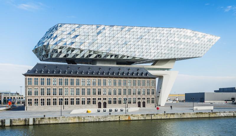 Un edificio con calificación Leed. Autoridad Portuaria de Amberes.