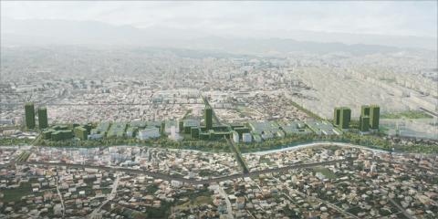 Tirana Riverside, el bosque urbano concebido como distrito autosuficiente en energía, servicios y alimentación