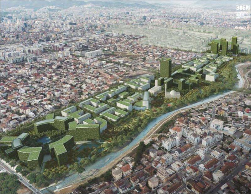 El barrio está diseñado como bosque urbano, ya que la vegetación cubrirá tanto jardines como fachadas y cubiertas.