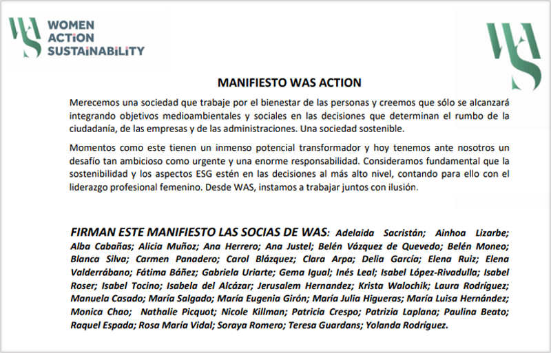 Manifiesto WAS Action