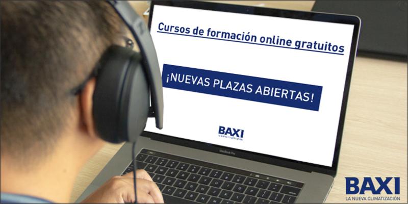 Baxi apuesta por la formación online gratuita mediante la que imparte conocimientos en climatización.