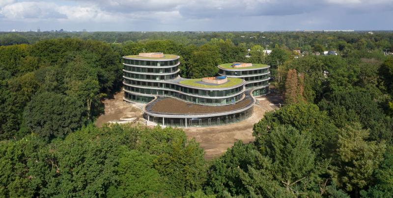 """El arquitecto, Thomas Rau, denomina este edificio como """"una catedral de madera""""."""