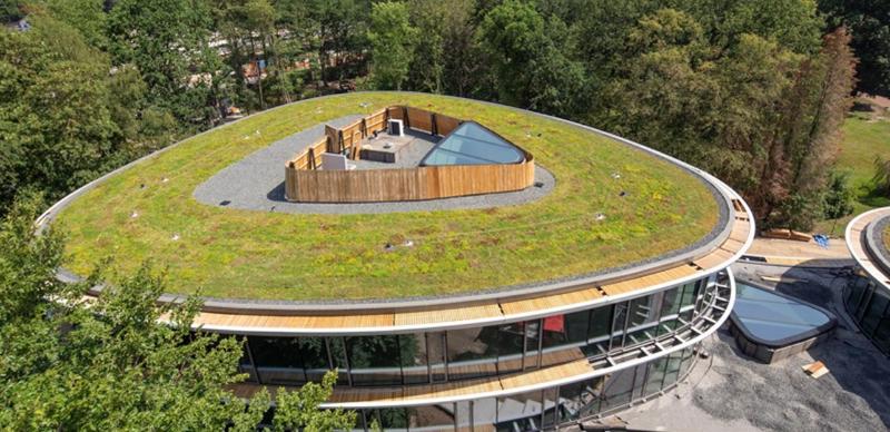 Las tres torres que conforman el proyecto disponen de cubiertas verdes.