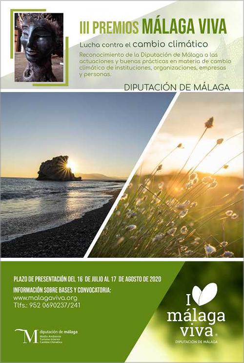 Hasta el 17 de agosto se podrán presentar solicitudes para la tercera edición de los Premios Málaga Viva.
