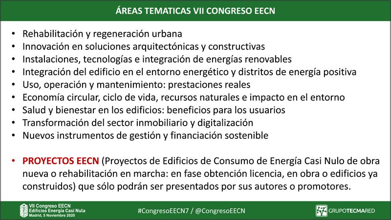 Temáticas seleccionadas por el Comité Técnico para próxima edición del Congreso EECN que se celebrará el 5 de noviembre.
