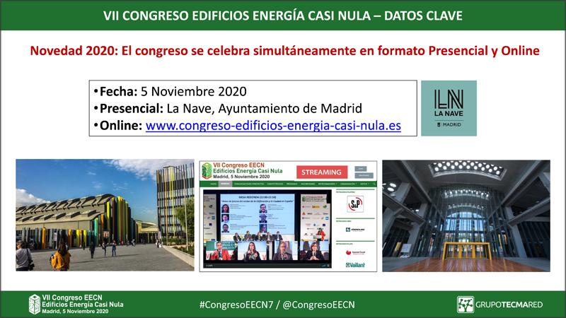 El Congreso EECN se celebrará de forma presencial y online, y se habilitará un APP para acceder a toda la información