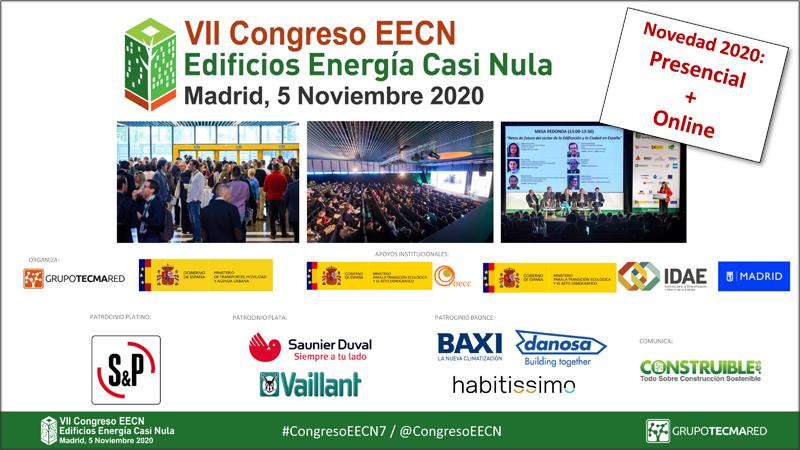 El VII Congreso Edificios Energía Casi Nula se celebrará el 5 de noviembre en La Nave de Madrid de forma presencial y online simultáneamente.