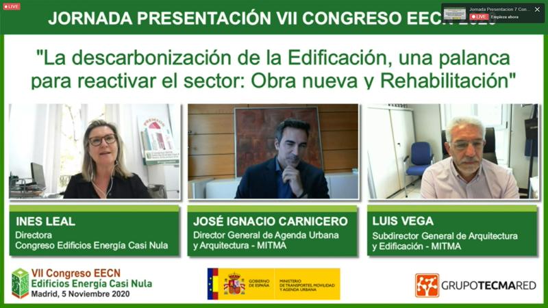 José Ignacio Carnicero desglosó los planes del Ministerio sobre rehabilitación energética, regeneración urbana y el impulso de la arquitectura sostenible.